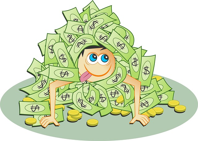 človíček v penězích