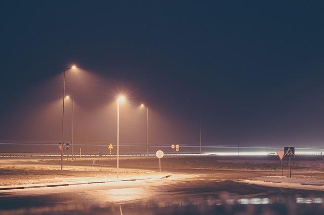 světla na silnici