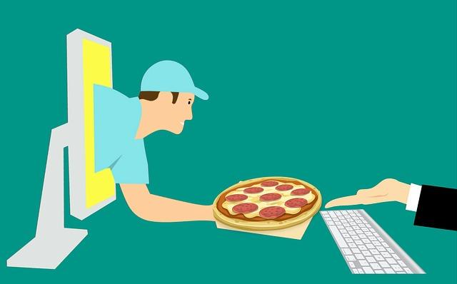 Kurýr, pizza